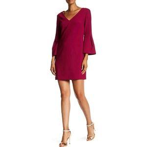 Trina Turk Heiress Bell Sleeve Crepe Shift Dress